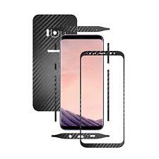 Textured Black Carbon Skin,Full Body Protector,Case Vinyl Wrap, Samsung S8+ Plus