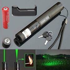 10 Miles 532nm 303 Green Laser Pointer Laser Pen Visible Beam Light+18650+Charge