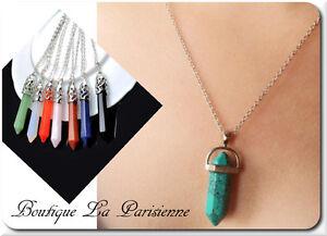 Chain + Pendant Natural Gemstone Lace Chakra Gemstone Hexagonal Necklace