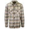 Rip Curl Men's Green Yellow Beige Plaid L/S Flannel Shirt