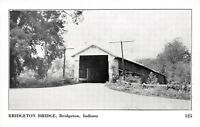 D54/ Bridgeton Indiana In Postcard Covered Bridge c1940s 5