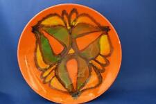 POOLE POTTERY DELPHIS PLATE by ANN GODFREY 1970s