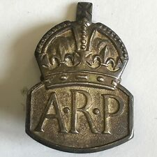 Vintage Solid Silver Air Raid Precautions Services Lapel Badge WW2 1938