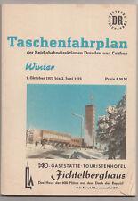 Taschenfahrplan Dresden & Cottbus DDR Winter 1972/73 ! (H3