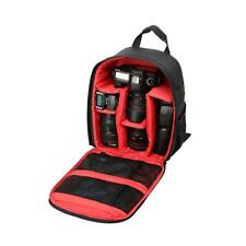Camera Backpack Bag Padded Case for Canon DSLR and Lens Red Camera