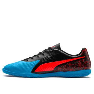 PUMA Men's One 19.4 Indoor Soccer Shoes  Bleu Azur/Red Blast/Black 105496 01