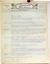 1924 ITINERAIRE MICHELIN DINANT ROCROI CARTE BIBENDUM