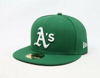 New Era 59Fifty Cap Mens MLB Oakland Athletics 2018 Alt Green Custom Fitted Hat