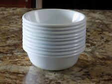 New listing 10 Rubbermaid 3836 Bowls Vintage White Melamine Soup Cereal Salad Camping Casual