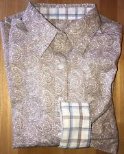 NWT WRANGLER Western George Strait For Her Button Down Paisley L/S Shirt XS