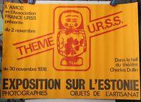 Affiche Originale ✤ Exposition sur l'ESTONIE / France-URSS ✤ Chambéry ✤ 1975