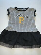 Mlb Pitsburgh Pirates 12 Month Dress Grey Cheerleader Baseball Uniform Stripes