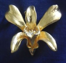 DESIGNER Gold Plated MANUFACTURED Orchid PIN PENDANT