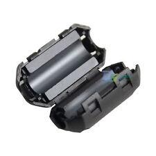 Black 70B Clamp RFI/EMI Noise Filter Ferrite Core Shielded for Audio Video Line