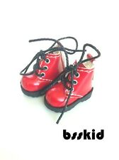 D02 Blythe Pullip Dal Momoko Lati Yellow Doll RED Shoes Boots