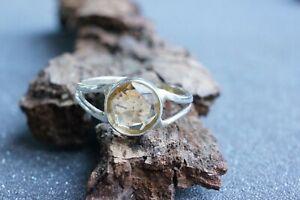 Citrine Ring Gemstone Top Grade Fine Handmade Sterling Silver Multiple Size