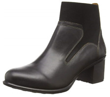 Fly London Women's Ilam327fly Ankle Boots Block Heel Size UK 4 , EU 37 Black