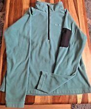 Craghoppers Women's Half Zip Fleece, Zip Pocket on Sleeve - Size 16, Green