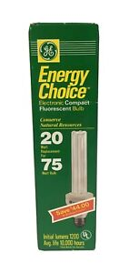 GE Electronic Compact Fluorescent Bulbs FLE20DBX/SPX27
