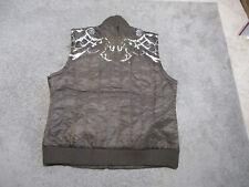 NEW Roar Signature Puffer Vest Adult Medium Brown Embroidered Full Zip Mens V229