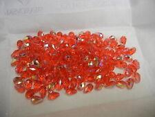24 swarovski teardrop crystal beads,9x6mm padpadadscha AB #5500