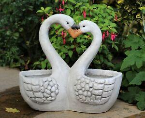 Garden Ornament Plant Pot Planter Swan Animal Decoration Outdoor Indoor
