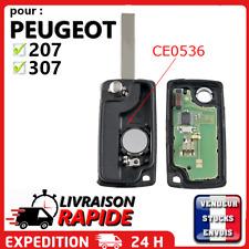 Clé Vierge CE0536 pour Peugeot 207 307 308 SW 2 boutons lame sans rainure / ASK