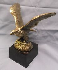 beautiful metal eagle trophy award heavy black marble base