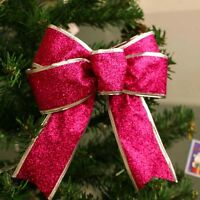 5Pcs Bows Bowknot Christmas Tree Party Gift Present Xmas Decoration New 5 Colors