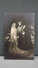 1937 Formal Marriage Postcard Princess Juliana & Bernhard of the Netherlands