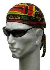 Rasta African Africa Print Biker Durag Doo Rags Headwrap Bandanna Chemo Cotton