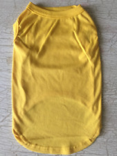 XL YELLOW Blank T-Shirt Dog clothes NWT NEW! You Customize DIY X-Large