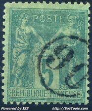 FRANCE TYPE SAGE N° 75 BELLE OBLITERATION JOUR DE L'AN ENCERCLEE N° 90 A VOIR