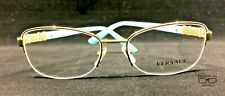 Versace MOD1230B 1362 Gold/Aqua Eyeglasses New Authentic 54