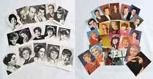 Vintage photos cards USSR Soviet Actors white black colored photos 1970s US78