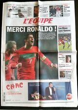 L'Equipe Journal 16/11/2011; Merci Ronaldo ! Portugal-Bosnie/ France-Belgique