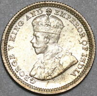 1932 Hong Kong George V Silver 5 Cents UNC Britain Empire Coin (20072706C)