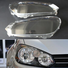 Pair Headlight Headlamp Cover Clear Lens Cover Shell For VW Golf 6 MK6 2010-2014