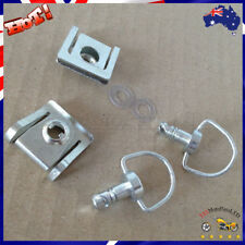 New 15mm Chrome Quick Release Fasteners Fairing Bolts Studs Quarter Turn + Clips