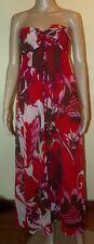 Robe bustier doublée longue imprimé rouge marque: H&M taille: 38 / M (174)