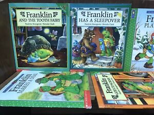 Lot of 8 Franklin the Turtle by Bourgeois Clark Kid Children Books MIX UNSORTED