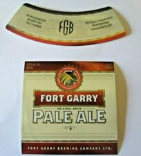 VINTAGE CANADA BEER LABEL FORT GARY PALE ALE FORT GARY BREWING WINNIPEG