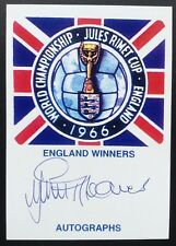 Jimmy Greaves Autograph England 1966 World Cup Signed Jules Rimet Card