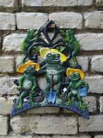 Frosch Schlauchhalter Gartenschlauchhalter Wasserschlauchhalter  Gusseisen