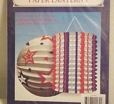 Hanging Paper Lantern Set Patriotic Red White Blue July 4th Patio Decoration New