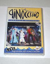 2 Dvd LE AVVENTURE DI PINOCCHIO Commedia musicale LIVE Mario Restagno Musical