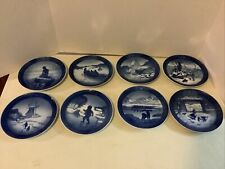 8 Royal Copenhagen Dated/Signed Christmas Plates 1962 - 1969 Exc Cond Denmark