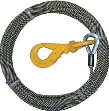 """3/8"""" x 100' Self Locking Fiber Core Winch Cable"""