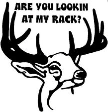 Deer Rack Decal  - Window sticker Hunting Car RV Truck Outdoor Quad Archery