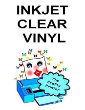 INKJET Adhesive Glossy Vinyl Decal Paper (Premium 3 Mil) 2 Sheets CLEAR